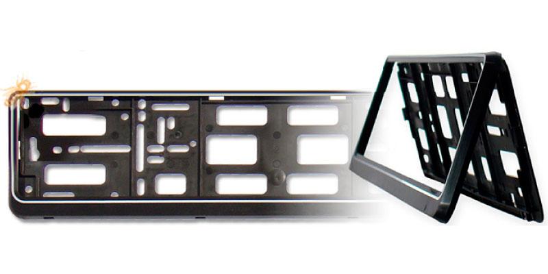 Metall Motorrad Nummernschild Halter Schwarz klappbar Kennzeichenhalterung