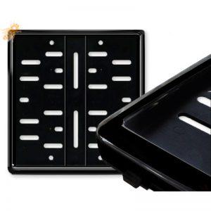 Ja, ich möchte einen schwarzen, hochglänzenden Kennzeichenhalter 180 x 200 mm für mein Wunschkennzeichen