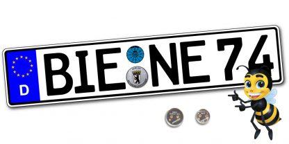 EURO Autokennzeichen einzeilig günstig online kaufen bei Kennzeichenbiene.de in Berlin