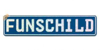 Fun-Schild Dunkelblau