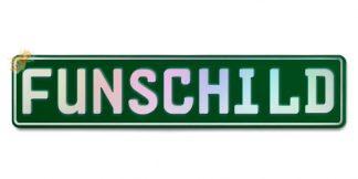Fun-Schild Dunkelgrün