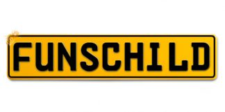 Fun-Schild Gelb