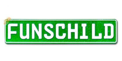 Fun-Schild Glitter Grün