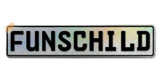 Fun-Schild Glitzer Silber