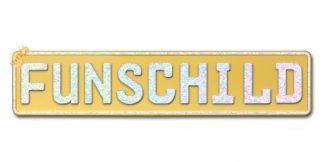 Fun-Schild Gold Matt