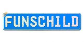 Fun-Schild Hellblau