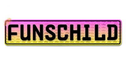 Fun-Schild Pink zu Gelb Reflex
