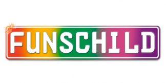 Fun-Schild Regenbogen Matt