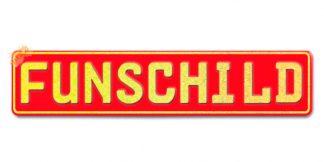 Fun-Schild Rot