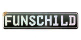 Fun-Schild Schwarz