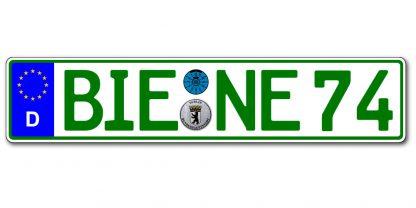 Grünes Eurokennzeichen einzeilig online kaufen bei Kennzeichenbiene.de in Berlin