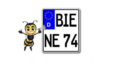 Enduro Kennzeichen EU Wettbewerb Sportkennzeichen 110 x 135 mm