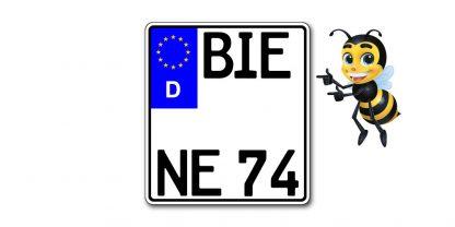 EURO Motorrad Kennzeichen kürzester Standard zweizeilig bei Kennzeichenbiene in Berlin