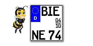 Saison EURO Motorrad Kennzeichen kürzester Standard zweizeilig bei Kennzeichenbiene in Berlin