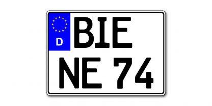 Motorrad Kennzeichen EU zweizeilig 280 mm – altes Maß