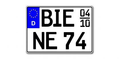 Motorrad Kennzeichen EU Saison zweizeilig 280 mm - altes Maß