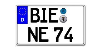 EURO KFZ Kennzeichen zweizeilig 340 x 200 mm