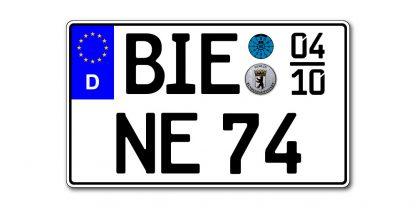 Saison EURO KFZ Kennzeichen zweizeilig 340 x 200 mm