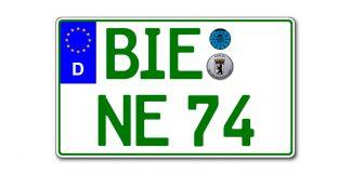 Grünes Eurokennzeichen zweizeilig 340 mm x 200mm