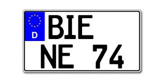 Leichtkraftrad Kennzeichen nach §5a EU 255 oder 240 x 135 mm