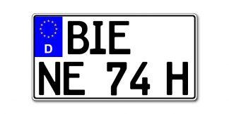 Leichtkraftrad Kennzeichen Historisch nach §5a EU 255 oder 240 x 135 mm