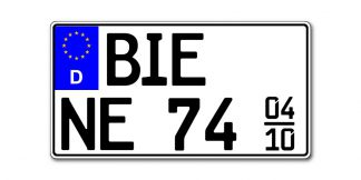 Leichtkraftrad Saison Kennzeichen nach §5a EU 255 oder 240 x 135 mm