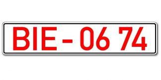 Händlerkennzeichen vor Euroeinführung
