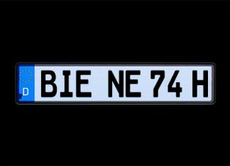 Selbstleuchtende Kennzeichen G-elumic 520 mm Historisch