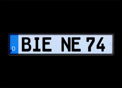 Selbstleuchtende Kennzeichen G-elumic 520 mm