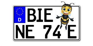 Leichtkraftrad E-Schild Kennzeichen nach §5a EU 255, 240 oder 230 x 135 mm