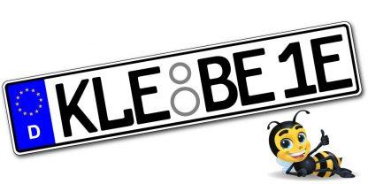Elektro Klebekennzeichen Euro einzeilig online kaufen bei Kennzeichenbiene.de in Berlin