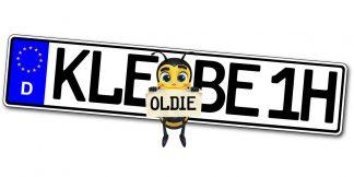 Oldtimer Klebekennzeichen Euro einzeilig online kaufen bei Kennzeichenbiene.de in Berlin